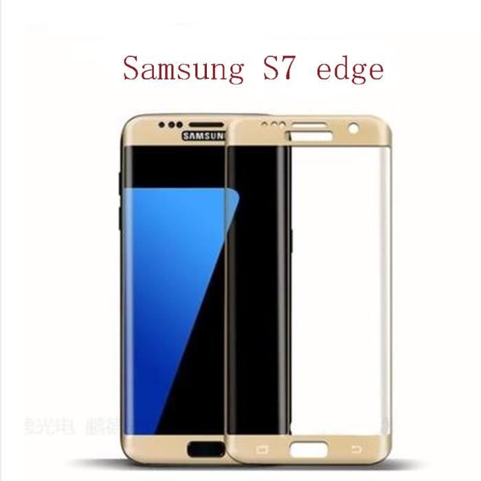 film de protection vitre verre trempe transparent pour samsung galaxy s7 edge or 5 1 pouce. Black Bedroom Furniture Sets. Home Design Ideas
