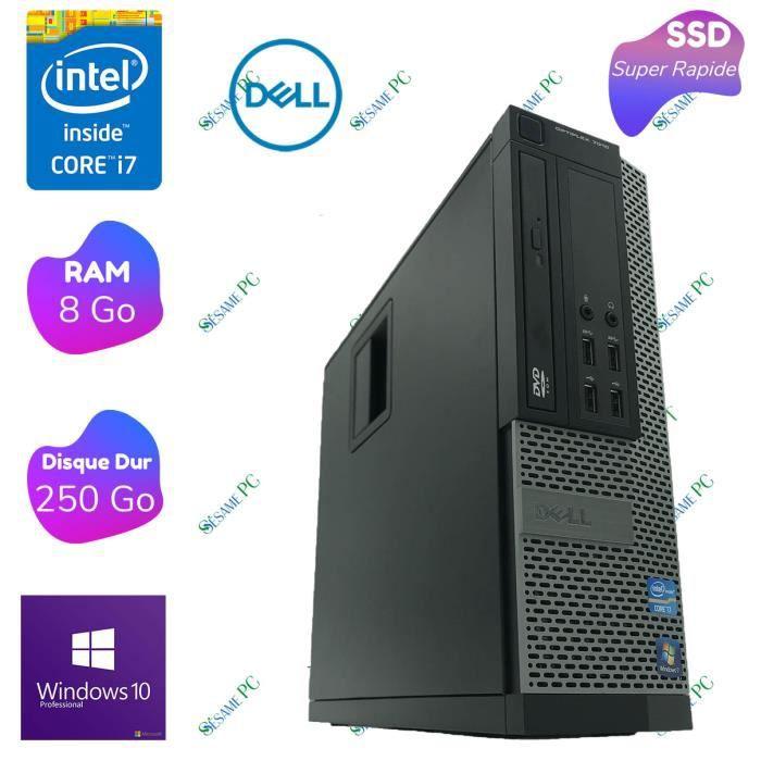 CLIENT LÉGER Dell Optiplex 7010 - Intel Core i7 3770 - RAM 8 Go