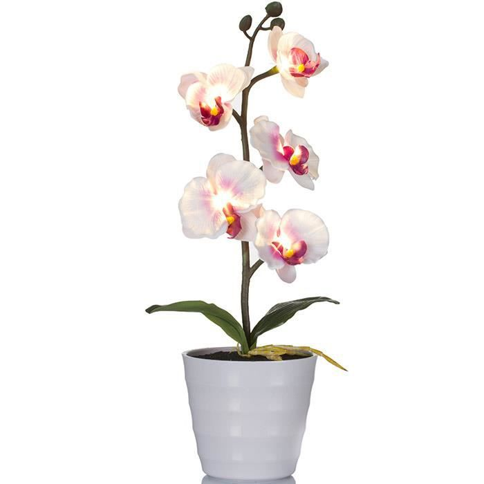 Plante artificielle lumineuse orchid e led achat for Plante lumineuse