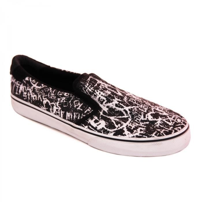 samples shoes SLIP ON FALLEN LOKER BLACK WHITE DAZED MEN ZUEtVur1