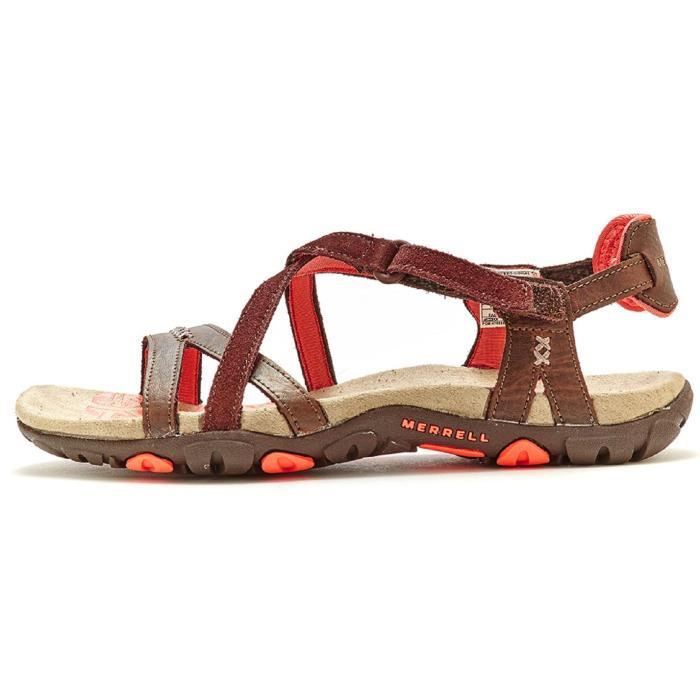 Merrell Sandspur Rose Femmes Sandals en Marron Suede & Leather J196489C [UK 4EU 37] Zeuuk