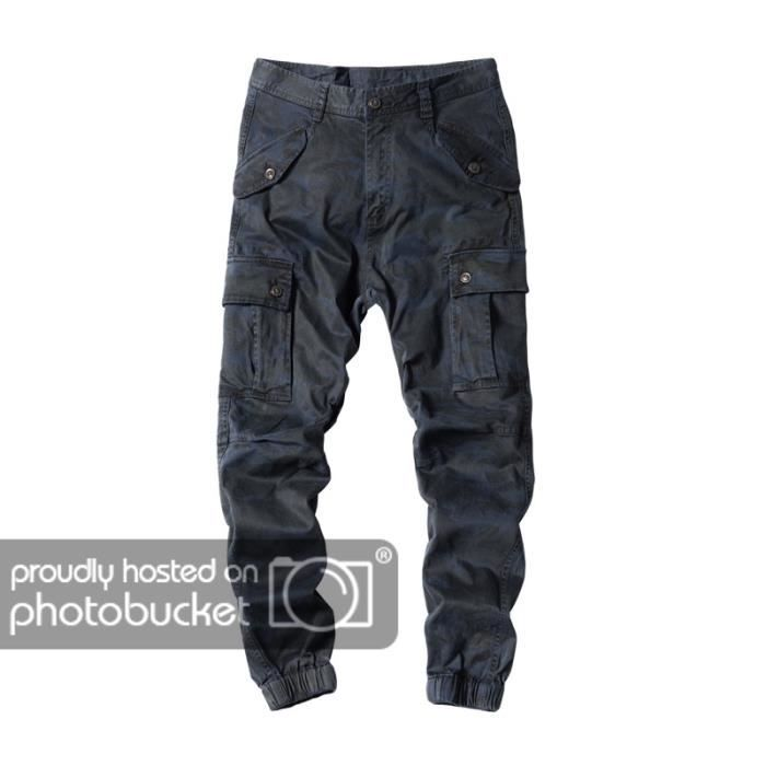 speical offer best quality hot new products Pantalons de Camouflage pour Homme Automne Hiver Camouflage Bleu marine 38
