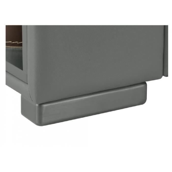 Canap d 39 angle cuir leeds gris angle droit achat vente canap s - Canape angle cuir but ...