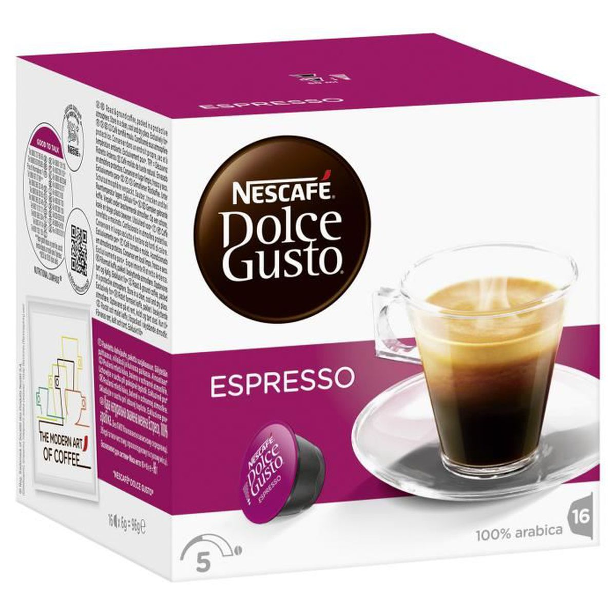 nescafe dolce gusto espresso cafe 16 dosettes achat. Black Bedroom Furniture Sets. Home Design Ideas