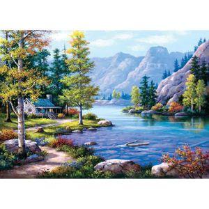 PUZZLE Puzzle 2000 pièces Lakeside Lodge