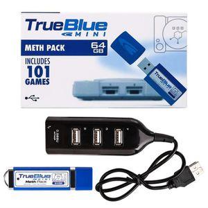 CONSOLE PS1 True Blue Mini Meth Pack 64 Go 101 Jeux Pour Plays