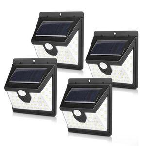 APPLIQUE EXTÉRIEURE Lampe Solaire Extérieur, 4-Pack 40 LED Éclairage S