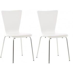 CHAISE 2x chaises de cuisine en bois blanc avec assise re