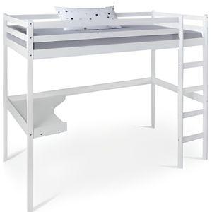 LIT MEZZANINE Lit mezzanine avec bureau pour enfant 90x200 cm bl