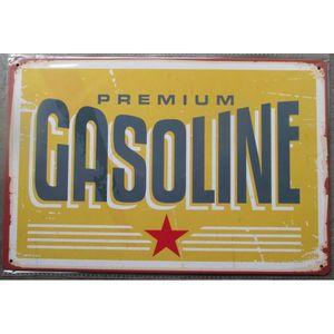 OBJET DÉCORATION MURALE plaque premium gasoline tole deco garage affiche m