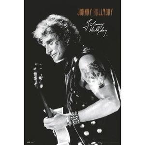 AFFICHE - POSTER Affiche Johnny Hallyday Firma