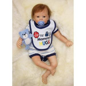 POUPÉE 55cm Simulation Silicone reborn bébés jouets pour