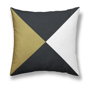 COUSSIN TODAY Coussin - Gold is Black - Triangles - 40x40c