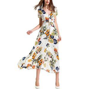 ROBE Stras® Vintage Robe Femme Bohême Maxi Longue Flora