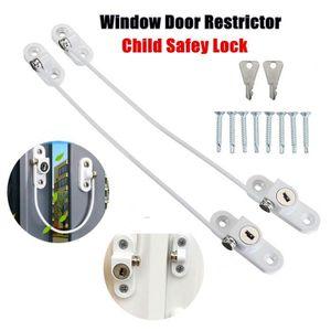 Gold Restricteur Fenêtre Verrouillable Câble de sécurité fil porte de sécurité enfant pvc lock