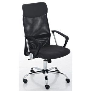 CHAISE Chaise de bureau en polyuréthane-métal coloris gri