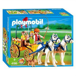 UNIVERS MINIATURE Playmobil  4186 Famille et Calèche