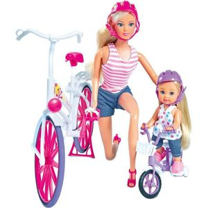 POUPÉE SIMBA - Poupée Steffi Love Promenade à Vélo + Evi