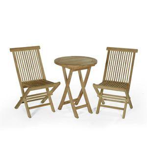 Salon de jardin bois Teck\'attitude - Achat / Vente Salon de ...
