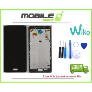 ECRAN DE TÉLÉPHONE VITRE TACTILE + ECRAN LCD + CHASSIS ORIGINAL WIKO