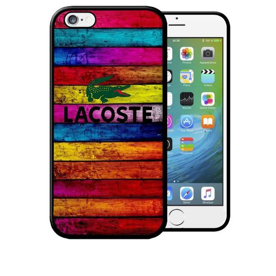 coque iphone 6 lacoste rouge