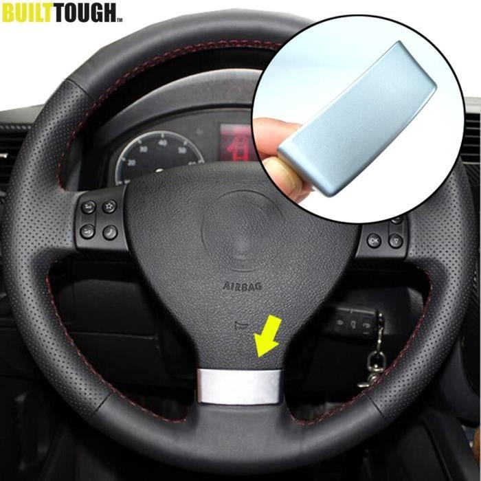 Autocollant de couverture de volant chromé, emblème de volant, accessoires de voiture, pour VW Golf MK5 Plus 5 GTI [5E778F3]