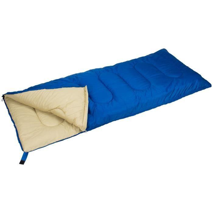 ABBEY CAMP Sac de couchage - En polyester 190T hydrofuge - Dimensions : 210 x 85 cm - Bleu Marine