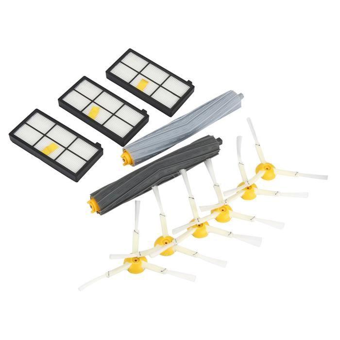 Brosse d'extracteur 3-bras filtres latéraux remplacer pour iRobot Roomba 800 série 880 870 @ ZZP70222822