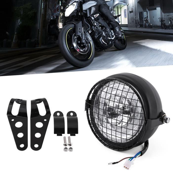 12V 6.5 - Moto LED Phare Blanc + Grill Mask
