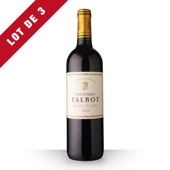 Lot de 3 - Connétable Talbot 2016 AOC Saint-Julien - 3x75cl - Vin Rouge