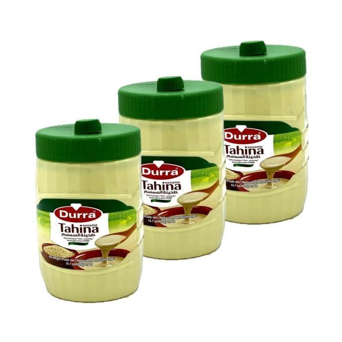 Lot 3x Tahin / Crème de sésame - Durra - pot 400g