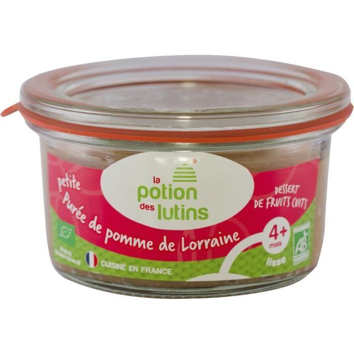 Petit pot de purée de pommes de Lorraine BIO La Potion des Lutins - 100 g