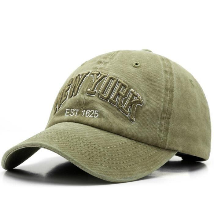 Kaki Adjustable -Sleckint – casquette de Baseball unisexe, en coton, pour hommes et femmes, NEW YORK, rétro, pour papa, visières de
