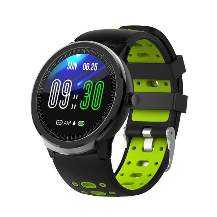Green Nouveau NORTH EDGE N21 montre intelligente Bluetooth hommes pression artérielle ronde Smartwatch femmes montre étanche IP67 Sp
