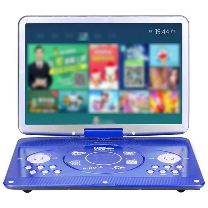 LECTEUR DVD PORTABLE QIAO Lecteurs DVD Blu Ray Portables, DVD Mobile R&eacuteseau WiFi Connexion WiFi HD 1080P T&eacutel&eac198