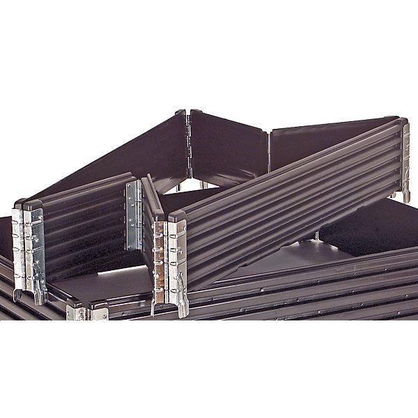 Rehausses en plastique, lot de 2 - pour palette Europe 1200 x 800 mm repliable, avec 6 charnières - Rehausse pour palette Rehausses