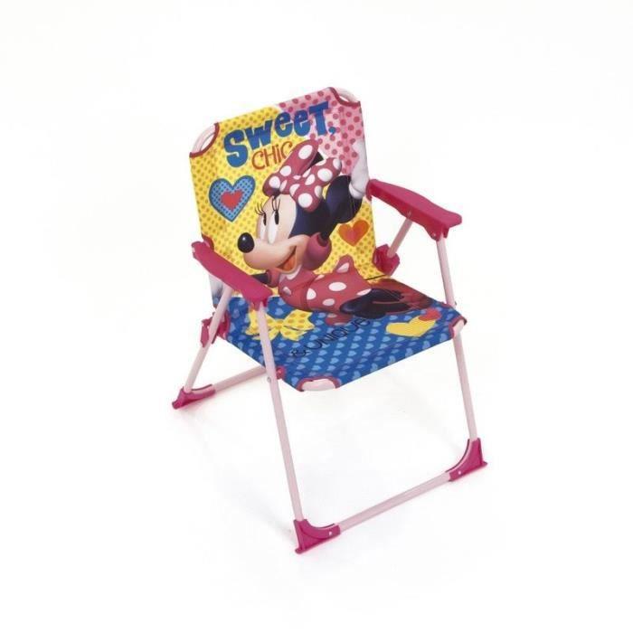 DISNEY Chaise Pliable Minnie Mouse Pour Enfant - Montée 38x32x53 cm