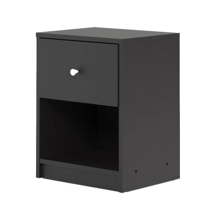 FINLANDEK Table de chevet TYYLIKÄS style contemporain décor noir - L 38 cm