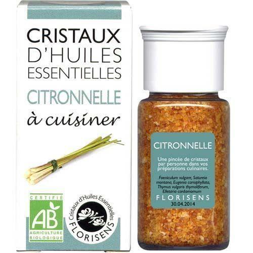 Cristaux d huiles essentielles Citronnelle bio 20g