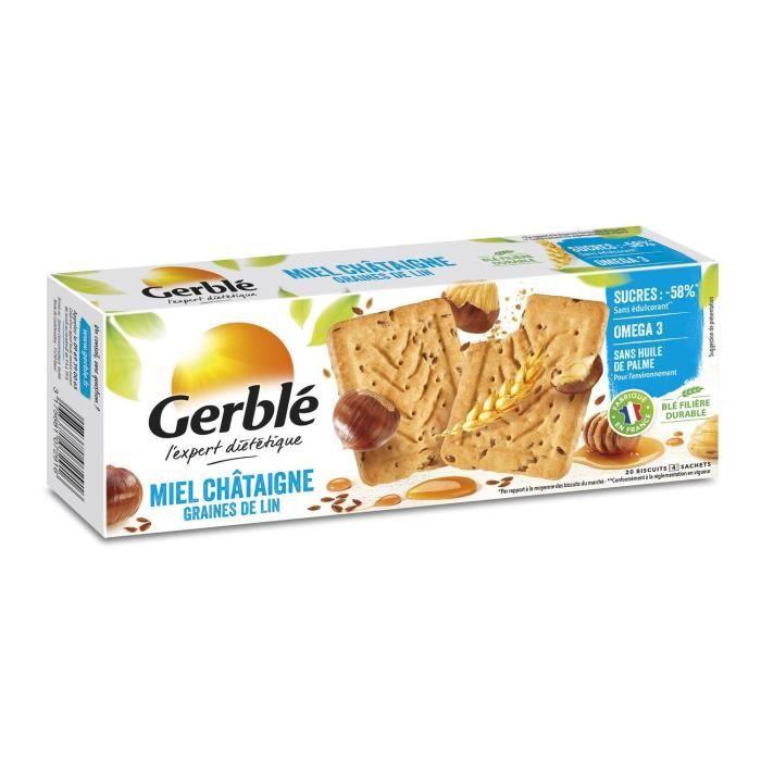 Biscuits miel et châtaigne 200g Gerblé