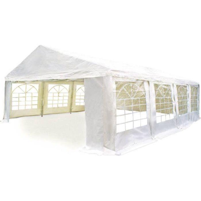 Tente de réception -Celia- en polyéthylène - 32m² - 4 x 8 m