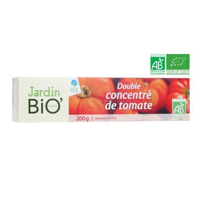 Double concentré de tomate bio 200 g Jardin Bio