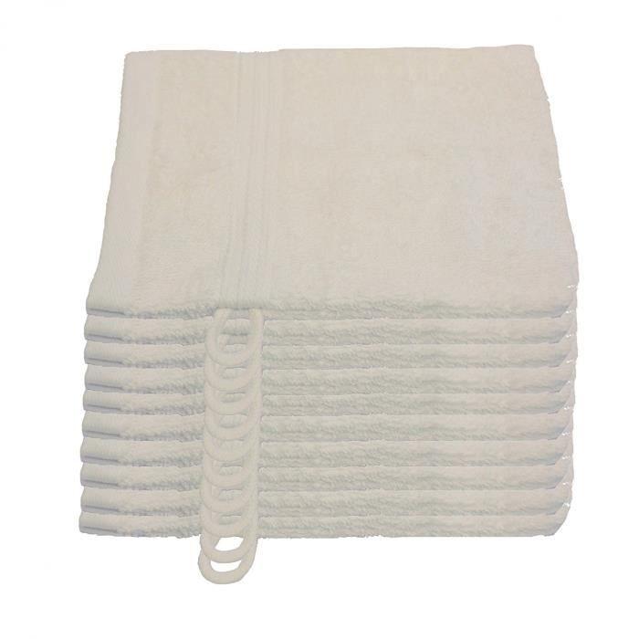 Julie Julsen Lot de 10 gants de toilette doux et absorbants 17 couleurs disponibles 15 x 21 cm 500 g-m² Certification Öko-Tex ,
