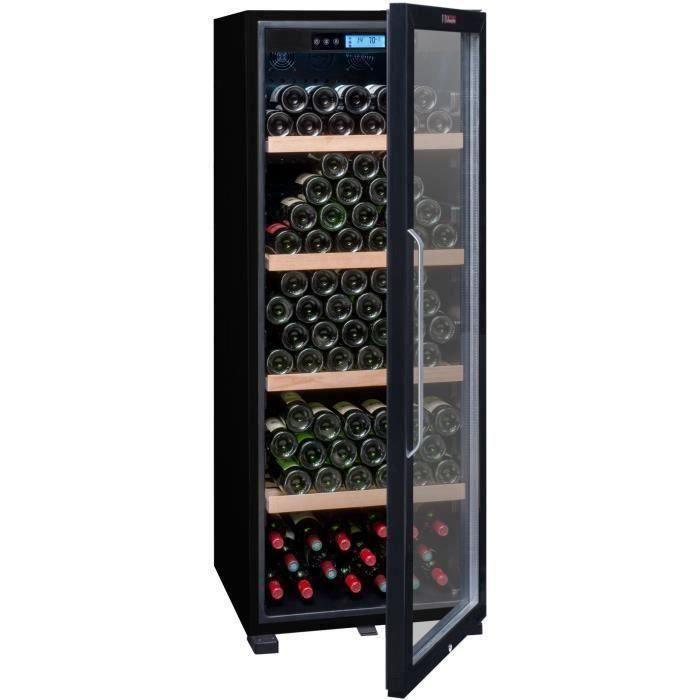 LA SOMMELIERE CTVNE186A - Cave à vin de vieillissement - 194 bouteilles Porte Vitrée - L 59.5 x H 158 cm