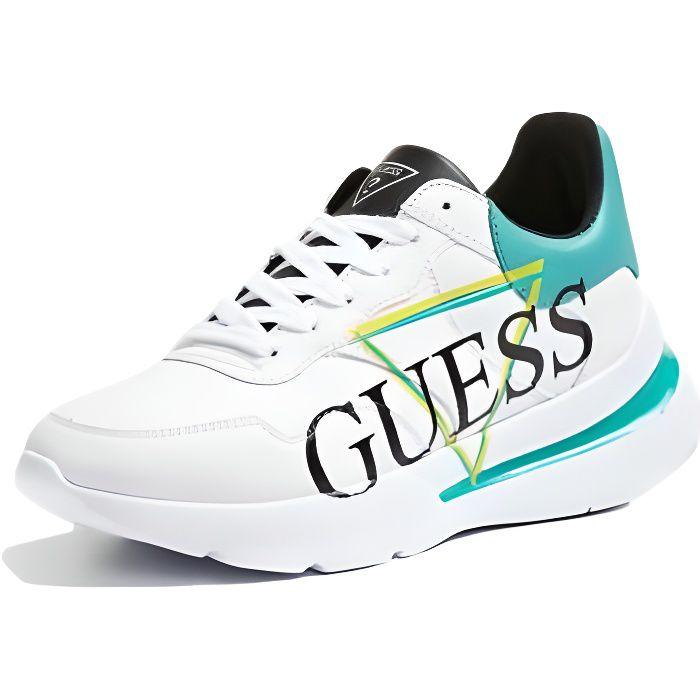 Guess Baskets Femme Milez Blanc-Vert - Taille - 36 EU