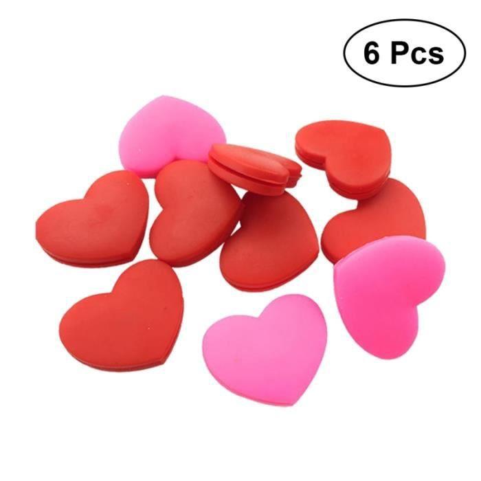 Lot de 6 amortisseurs de vibrations de tennis en silicone Amortisseurs de en forme de coeur RAQUETTE DE TENNIS - CADRE DE TENNIS