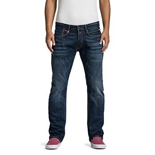 Replay NewBill - Jeans - Droit - Homme - Bleu (Blue Denim 7) - W29/ L32 (Taille fabricant: W29 / L32) - MA955 .000.606 300-7