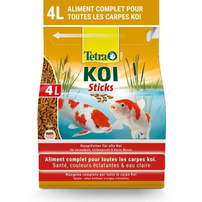 TETRA Aliment complet stick - Tetra Pond Koï stick - 4 L - Pour les carpes Koï