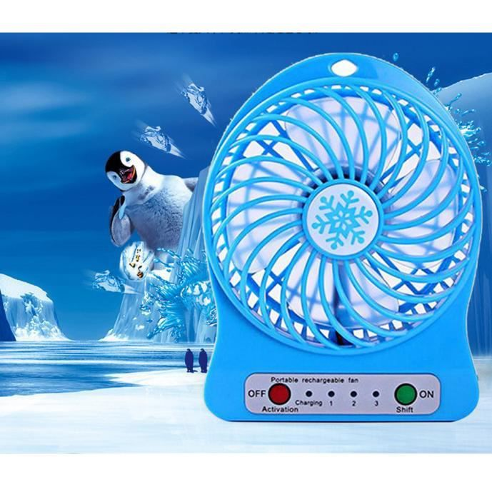 VENTILATEUR Air portable LED rechargeable ventilateur Cooler M