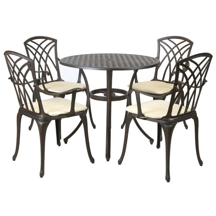 Charles Bentley - Salon de jardin Stamford avec table/4 ...